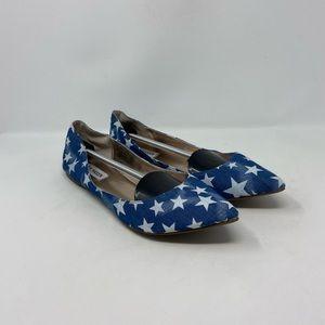 Steve Madden Stars Pointy Toe Flats Womens Sz 11